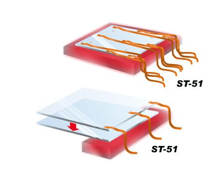 测量烧结,接着玻璃基板时的温度分布