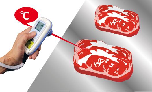 食品的非接触温度测量