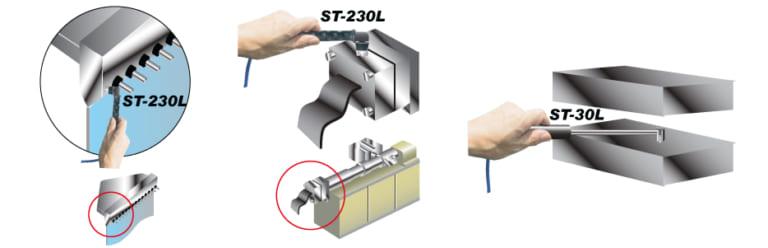 金型の表面温度監視(携帯用温度計)