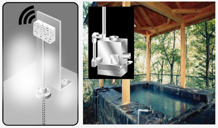 温泉・温浴施設のボイラー温泉水温度管理